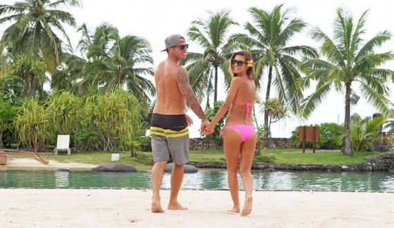 Audrina-Patridge---Wearing-a-bikini-in-Tahiti
