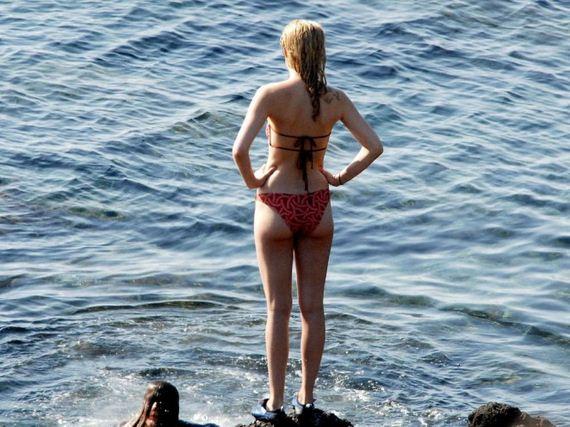Dakota-Johnson-in-Red-Bikini