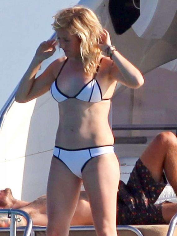 Ellie Goulding in a Bikini on a Yacht in Spain