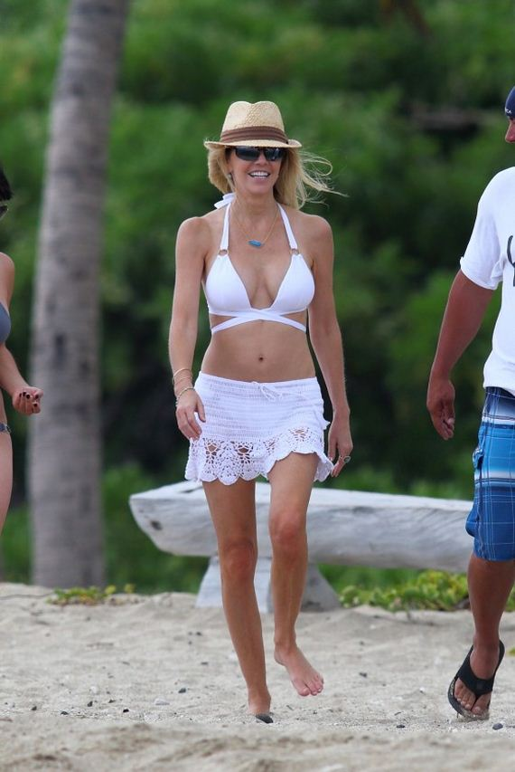 Heather-Locklear-Wearing-a-white-bikini-top