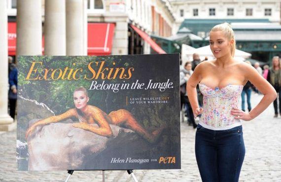 Helen-Flanagan-PETA-Anti-Exotic-Skins