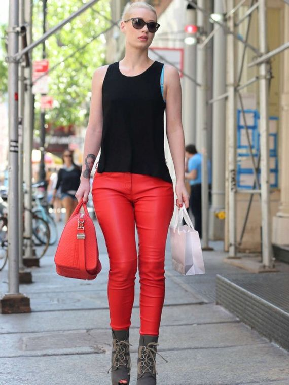 Iggy-Azalea-in-Red-Leather-Pants