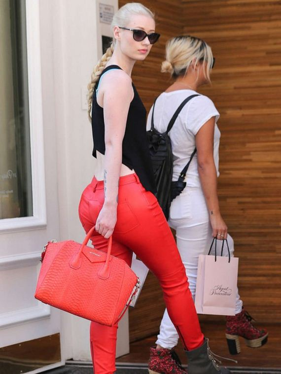 Iggy-Azalea-in-Red-Leather-Pants