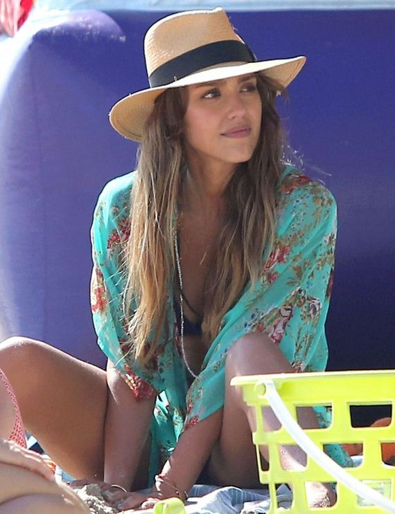 Jessica-Alba-Bikini-2013 -at-a-beach-in-Malibu