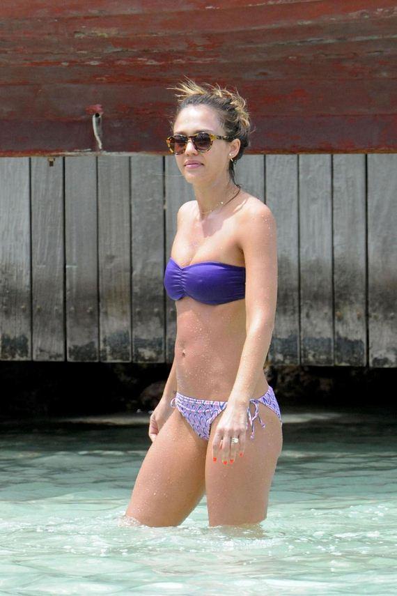 Jessica-Alba-in-Purple-Bikini