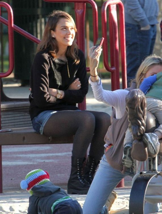 Jessica-Alba-in-Shorts-at-Coldwater-Canyon