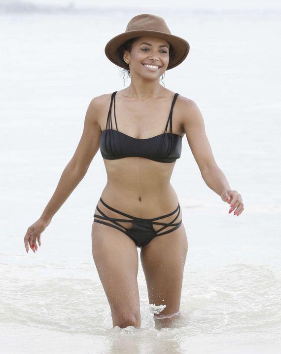 Kat Graham wearing a black bikini in Jamaica - 12thBlog