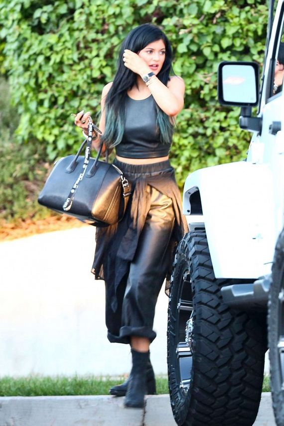 Kylie-Jenner-in-Leather