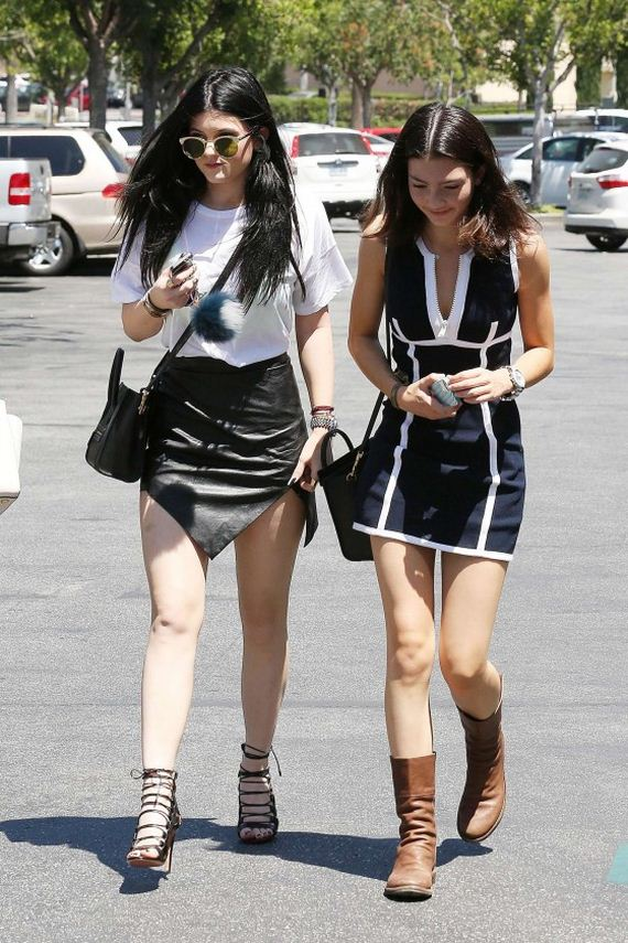 Kylie-Jenner-in-a-mini-skirt-out-in