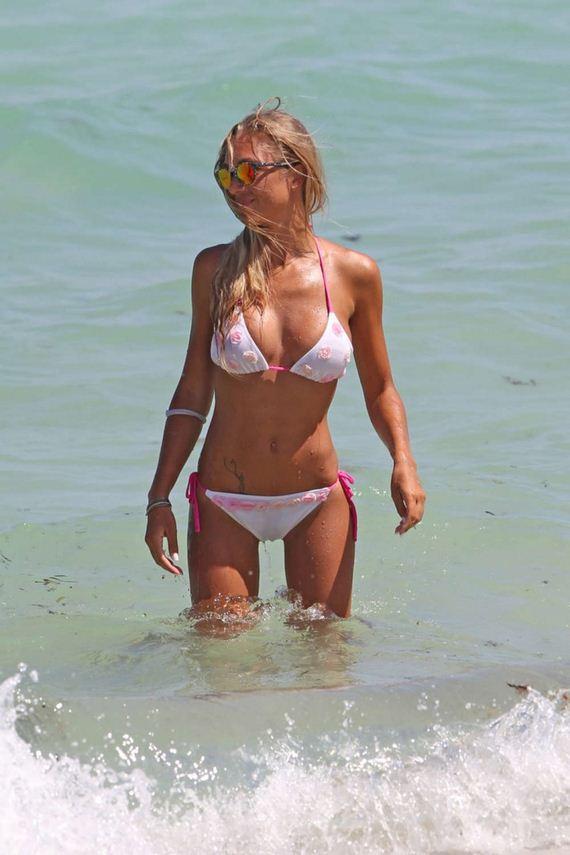 Laura-Cremaschi-in-White-Bikini