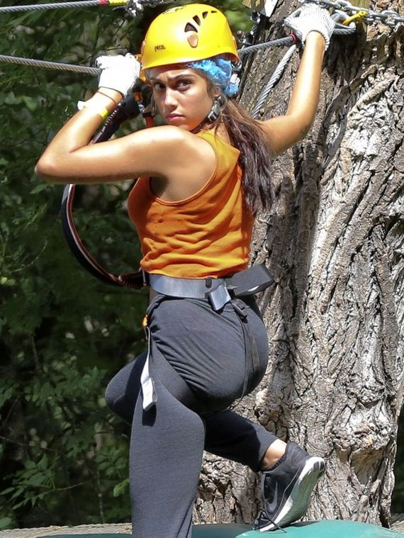 Lourdes-Leon---Seen-Zip-Lining-in-France