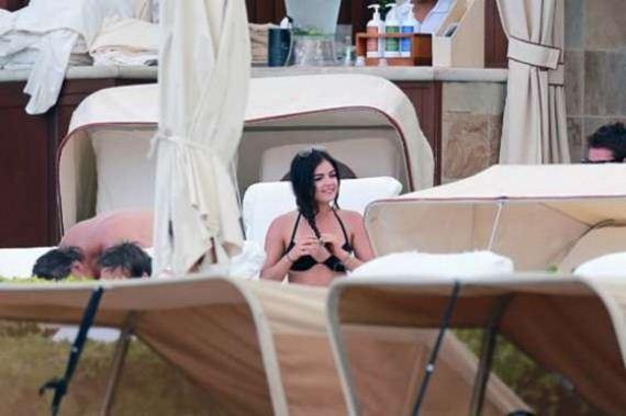 Lucy-Hale-in-black-bikini--in-Hawaii