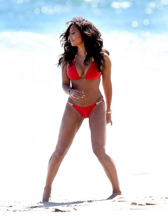 Mel-B-in-Red-Bikini