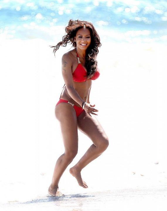 Mel-B-in-Red-Bikini