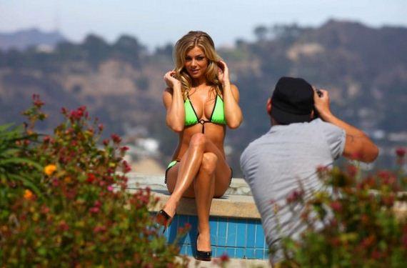 Nikki-Leigh-In-a-Green-Bikini-Photoshoot-in-Beverly