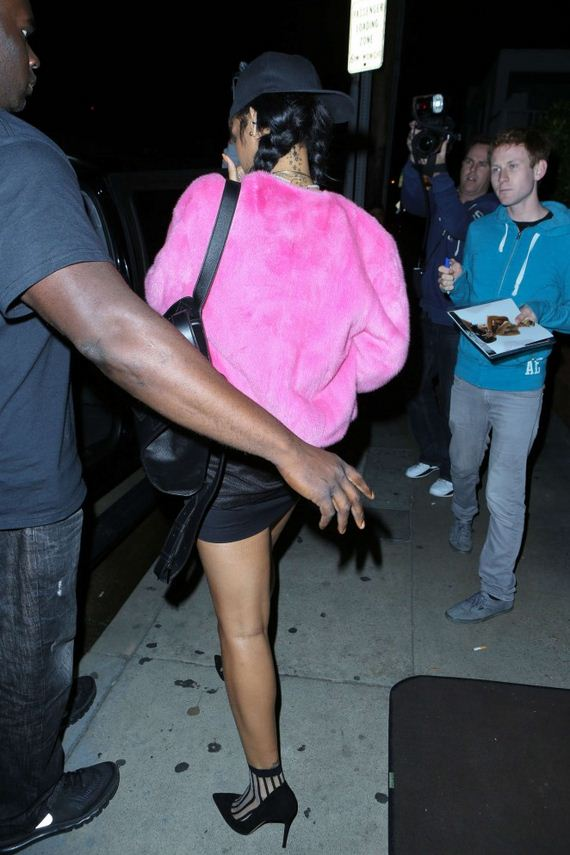 Rihanna-in-Mini-Skirt