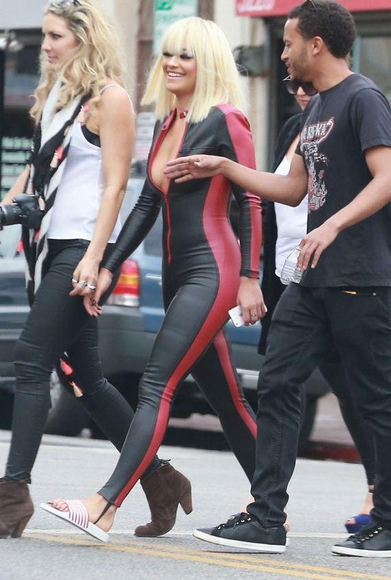 Rita-Ora-in-Leather-Suit