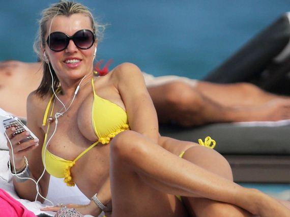 Rita-Rusic-in-a-Yellow-Bikini