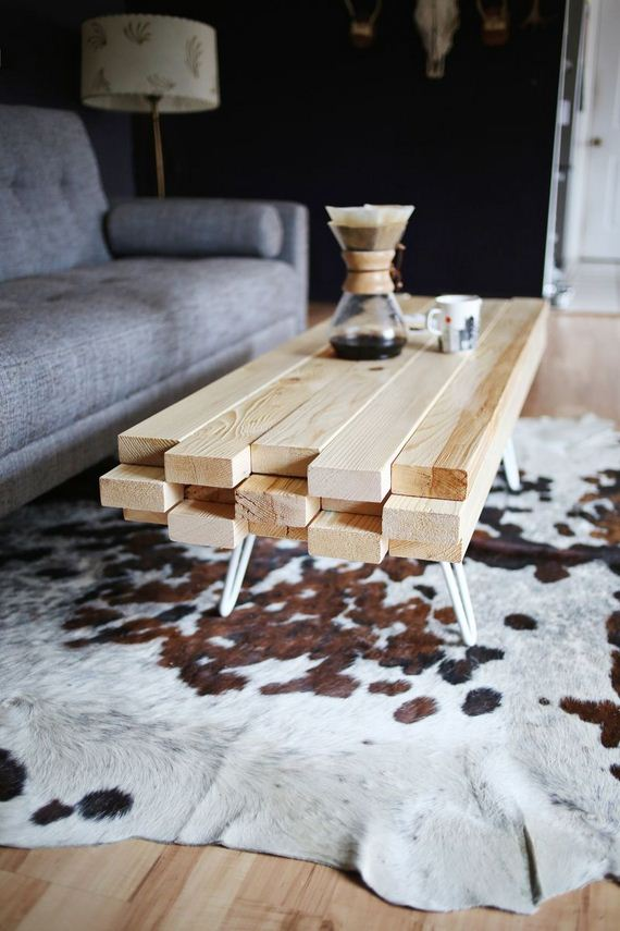 DIY Wooden Coffee Table - 12thBlog