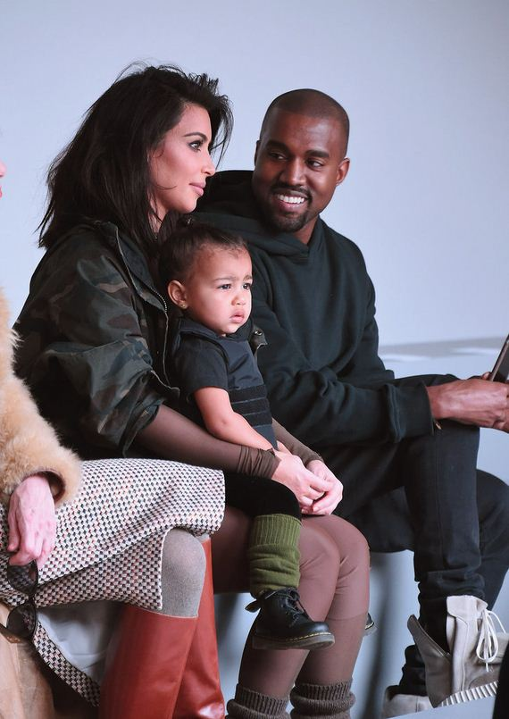 Kim-Kardashian-North-West-Kanye-West-Fashion-Show
