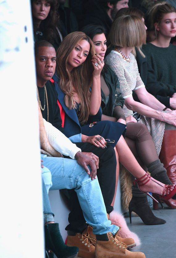 Kim-Kardashian-North-West-Kanye-West-Fashion-Show
