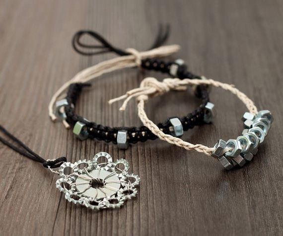braided-hex-nut-bracelets-diy-handmade