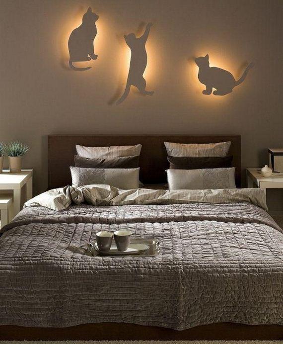 DIY bedroom lighting and decor idea for cat lovers - 12thBlog