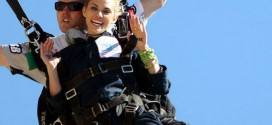 AnnaLynne McCord Skydives from 18 000 feet at Charity Event in Lompoc
