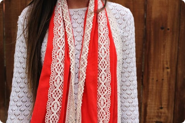 diy-scarf-easy-sewing-ideas-red-cloth-lace