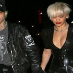 Rita Ora puts on a VERY busty display as she squeezes into a perilously plunging PVC dress for dinner date with Ricky Hil