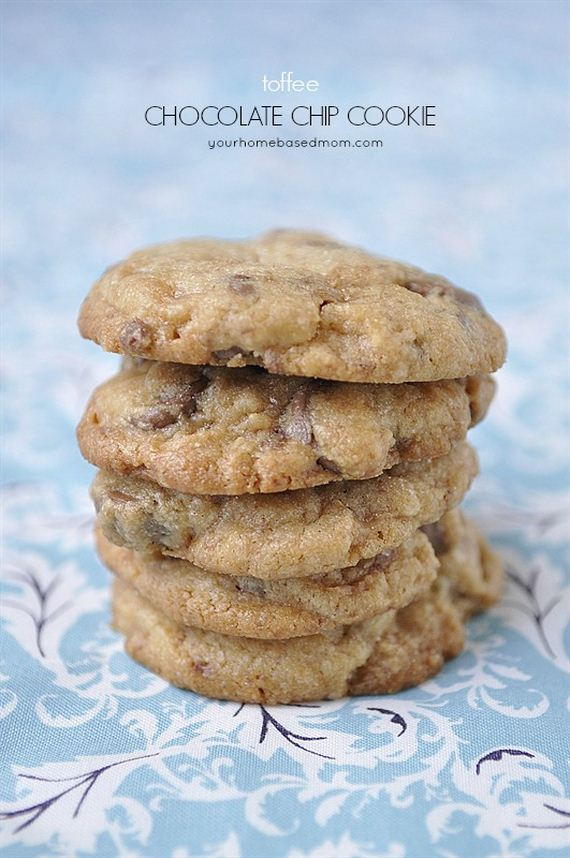 Toffee and Chocolate Chip Cookies