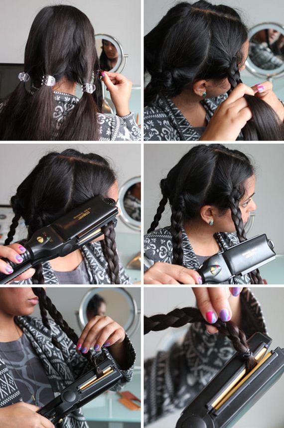 Крупные локоны в домашних условиях на средние волосы фото