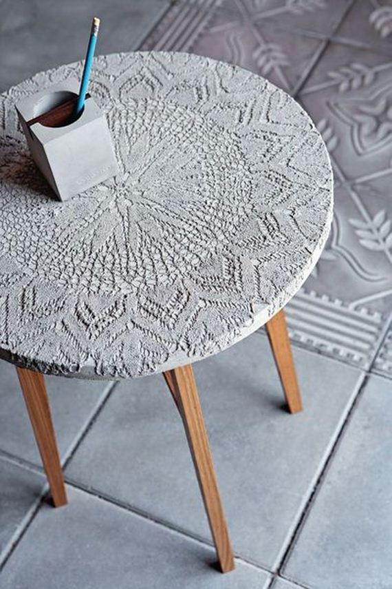 amazing diy concrete coffee and side tables