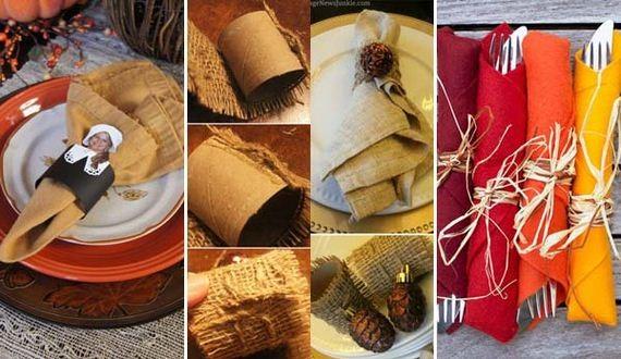 Diy Napkin Ring Ideas For Thanksgiving Table