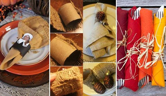 diy napkin ring ideas for thanksgiving table