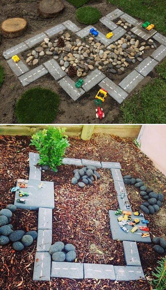 Backyard DIY Race Car Tracks