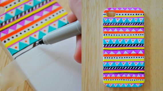 10-DIy-Washi-Tape-Phone-cake