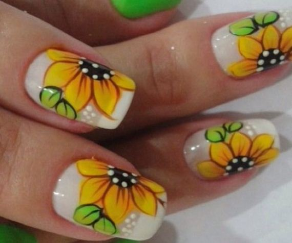 03-sunflower-nail-designs