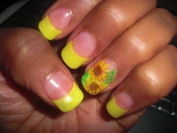 08-sunflower-nail-designs