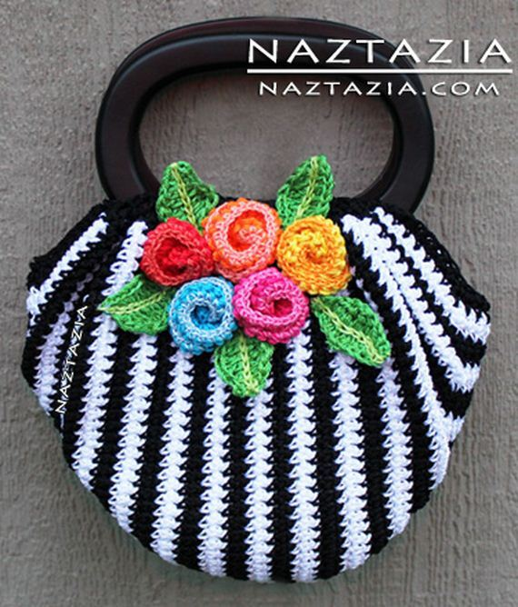 Crochet Circle Bag : Cute Crochet Purses and Totes