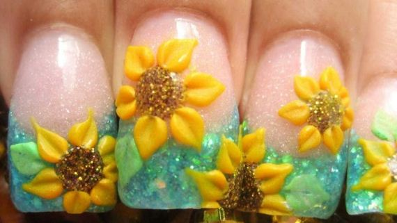 10-sunflower-nail-designs