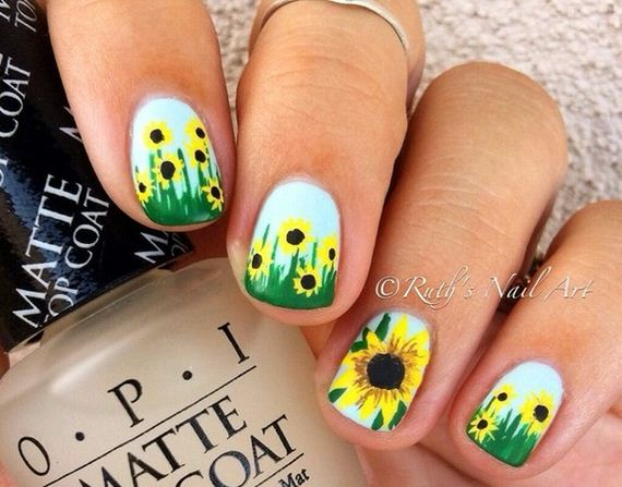13-sunflower-nail-designs