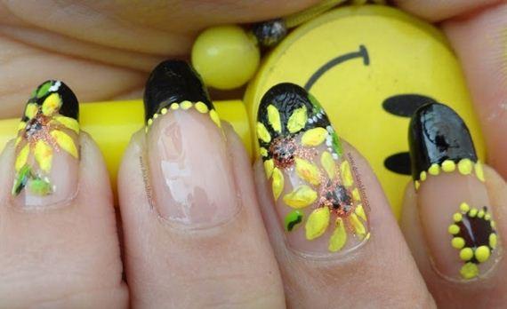 15-sunflower-nail-designs