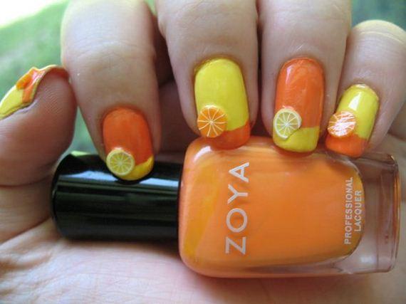 13-orange-nail-art