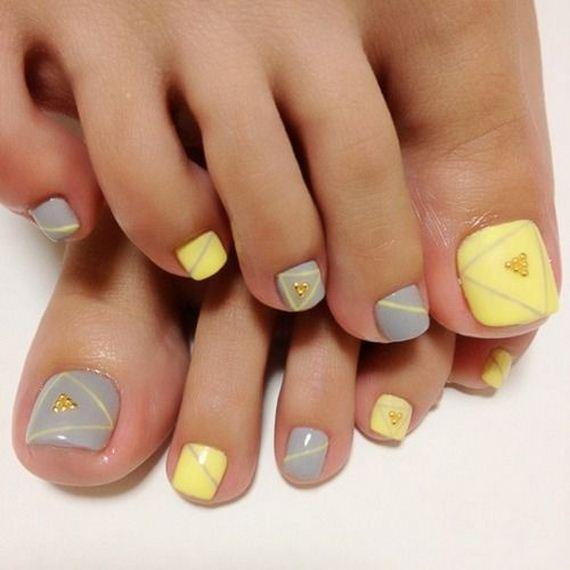 Yellow Nail Polish Toenails: Cool Toe Nail Designs