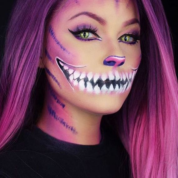Creative Halloween Makeup Ideas - Purple Halloween Makeup Ideas