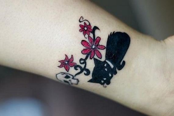 06-black-cat-tattoo-design