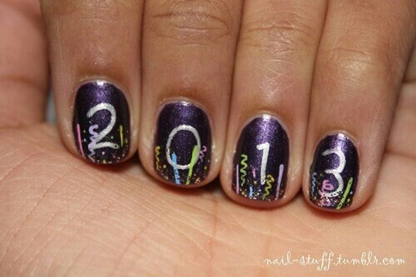 Awesome new year nail art designs prinsesfo Choice Image