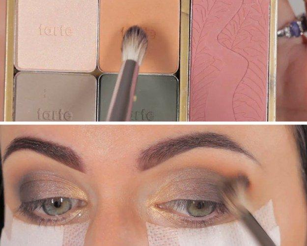 Apply smokey eye makeup
