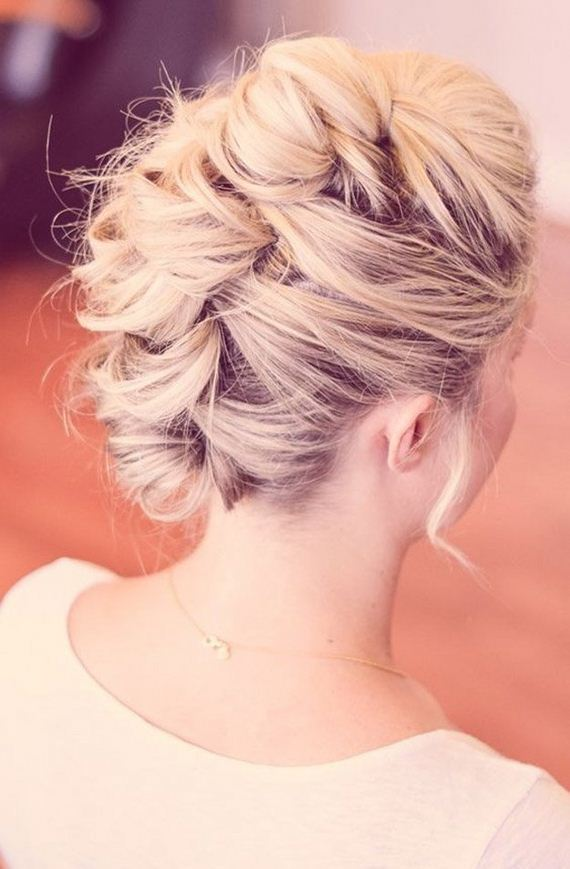 Homecoming updo hairstyles from the back